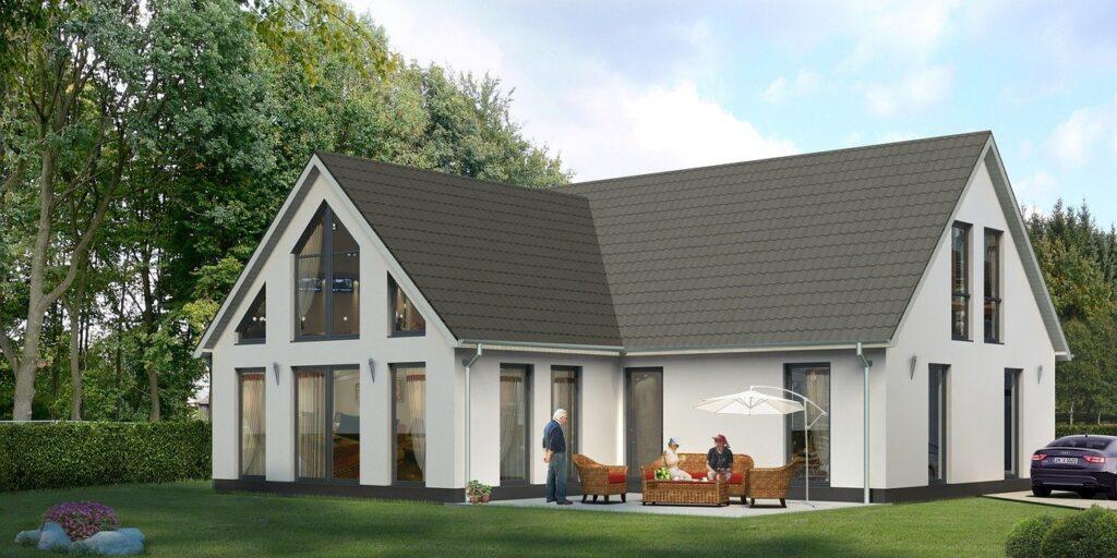 single family home, villa, rendering